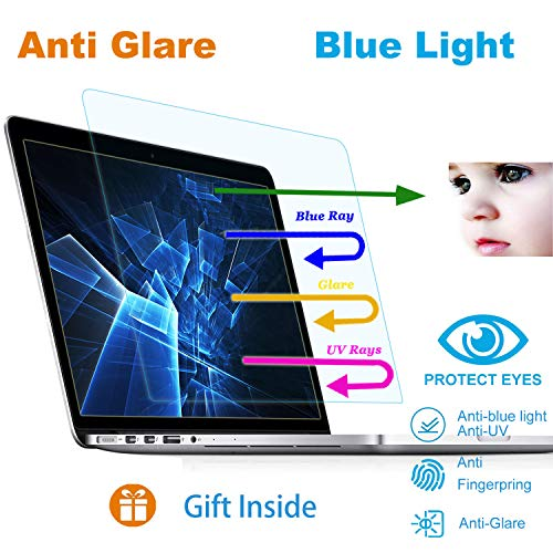 2 Pack Eyes Protection Filter Fit 2019 2018 2017 2016 MacBook Pro 15 Model A1707 A1990 Anti Blue Light Anti Glare Screen Protector Reduces Digital Eye Strain Help You Sleep Better