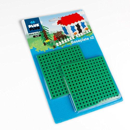 Plus-Plus 9604022 Geniales Konstruktionsspielzeug, Grundplatte, Basisplatte, grün, 2 Teile