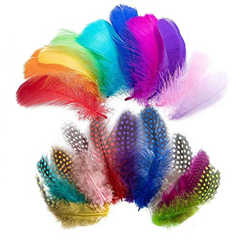 Feathers Colorful Art Natural Glitter Soft Feathers Accessories for DIY Dream Catchers Craft Wedding Themed Home Party Decorations 300PCS