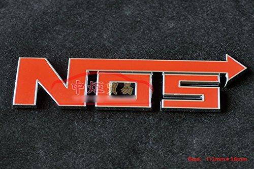 D158 Nos auto aufkleber 3D Emblem Badge top Plakette Abzeichen car Sticker Abziehbild rot