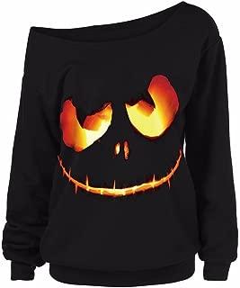 Vanvler Sweatshirt Hoodie Women Halloween Costumes Pumpkin Devil Blouse Pullover Tops Shirt Plus Size