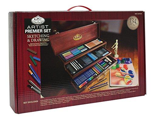 Royal & Langnickel RSET-ART8100 – Maletín con material para dibujo (134 piezas), multicolor