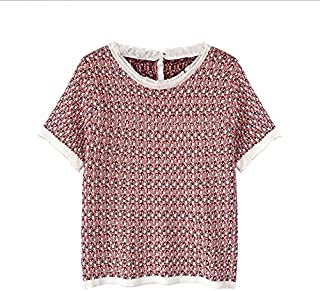 Wxcgbdx Womens T Shirts, Fringed Knitted T-shirt Women Short-sleeved O-neck T-shirt Summer Fashion Blouse