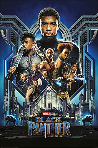 Black Panther - Marvel Movie Poster/Print (Regular Style) (Size: 24 inches x 36 inches) (Black Poster Hanger)