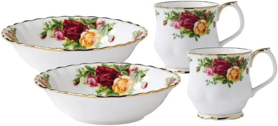 Super special price Royal Albert Tampa Mall Old Country Roses Breakfast kitchen-and-din 4-Piece