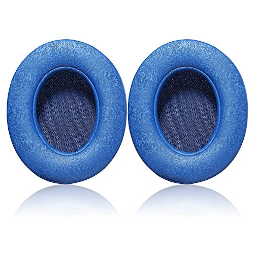 Studio3.0 Replacement Earpads Ear Pad Cushion Cover Compatible with Beats by Dr.Dre Studio 2.0 Wired/Wireless & Studio 3.0 Over-Ear Headphones (Blue)