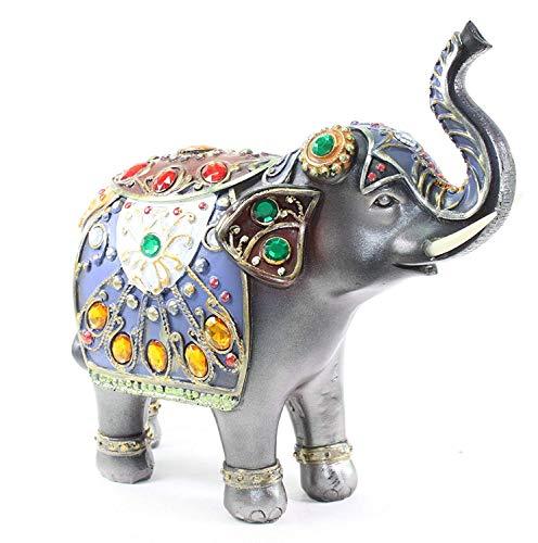 HOMERRY - Figura Decorativa de Elefante Fengshui de Resina de 18 cm...