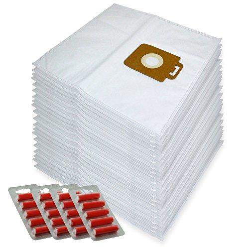 Spares2go Sacs Chiffon de nettoyage en microfibre pour Nilfisk Power P10 P12 P20 P40 Aspirateur (lot de 20 + 20 désodorisants)