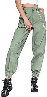 Women High Waist Hip Hop Dance Tapered Cargo Jogger Pants Trousers Harem Baggy Jogging Sweatpants