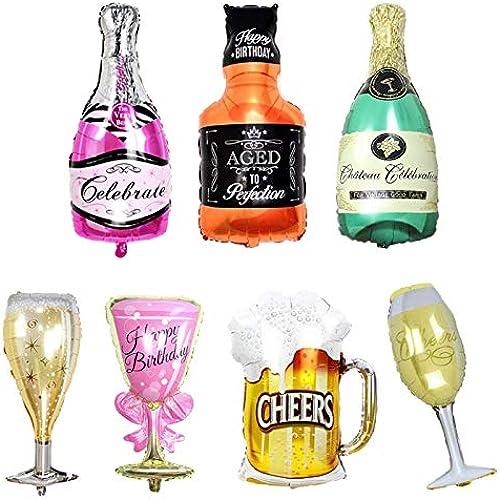 nueva marca Tyro - Globos de Cerveza Cerveza Cerveza Grandes con Forma de Botella de Vino de Whisky Dorado, Globos de Helio hinchables, decoración de Fiesta de cumpleaños para Adultos  barato en línea