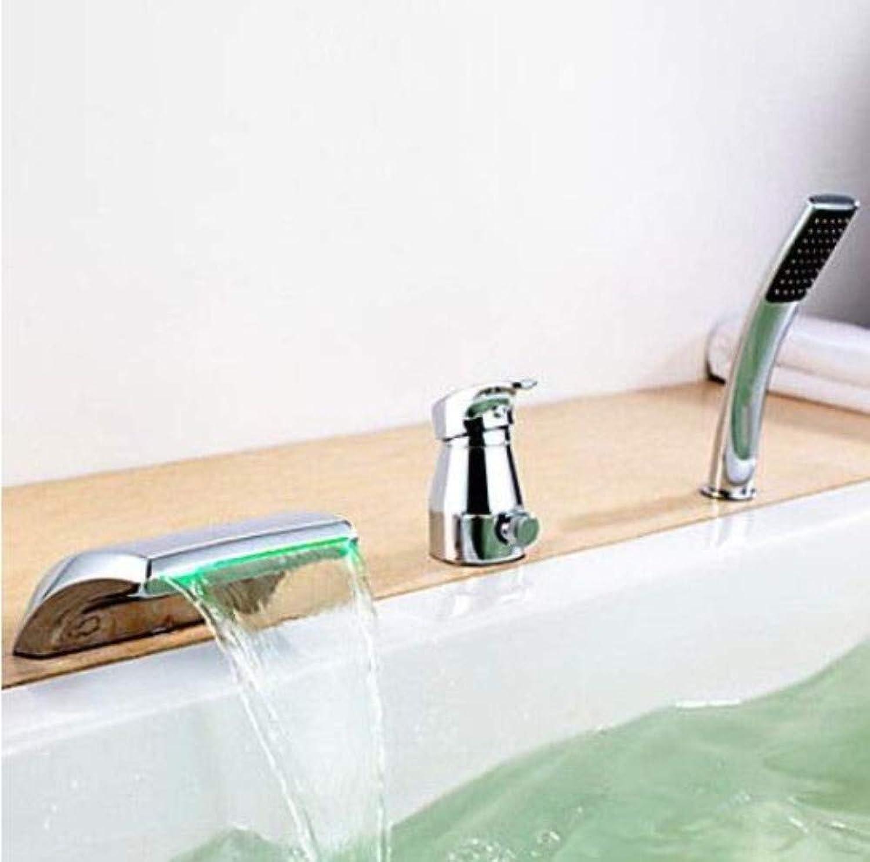 Mit Ausziehbarem Schlauch, Horizontaler Stange, Küchenarmaturwannenfüller Wasserhahn & Handbrause Wasserfall Badezimmer Badewannenarmatur