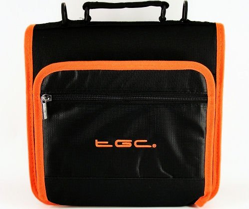 New Jet Black & Hot Orange Trims & Linings Deluxe Twin Compartment Shoulder...