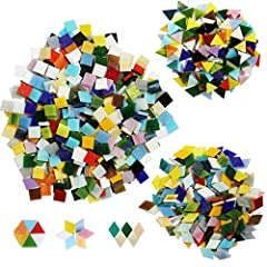 Perfect Surface: Compared with other mosaics on the market, the surface is smooth, uniform thickness, looks flawless, more brightly and beautiful in a closer distance. Material: sturdy and innoxious glass, these mosaics in gentle colors will not lose...