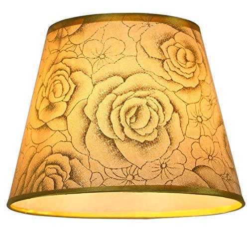 Eastlion - Lámpara moderna de PVC para mesa, pared, mesilla, lámpara de pie, lámpara de techo, bombilla E27, metal, Gold 25, 25 cm