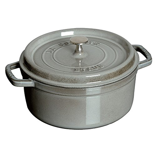 STAUB Round Cocotte, 2.75 quart, Graphite Grey