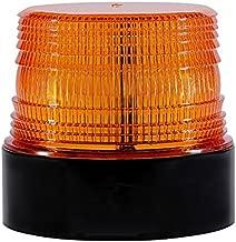 LED Strobe Light, Dinfu Amber Warning Lights Super Bright,Emergency Warning Flash Beacon Light with 12V Cigarette Lighter Plug with Magnetic Base for Truck Vehicle School Bus (Wireless Light)
