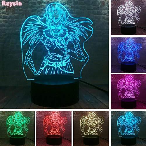 Anime Death Note Ryuk Ryuuku Go ActionSleep WeihnachtsfeierG ift 3D LED Nachtlicht USB Tischlampe Kinder Geburtstagsgeschenk Nachttisch Dekoration