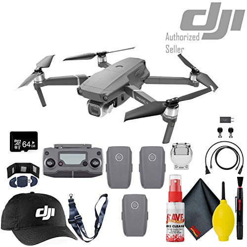 Sale!! DJI Mavic 2 Pro Drone - Flight Batteries (3 Total) - 64GB MicroSD - DJI Baseball Cap & Lanyar...