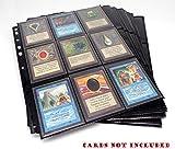 docsmagic.de 50 18-Pocket Pages Black - Toploading Standard Size - MTG - Pokemon - 11-Hole - Schwarz -