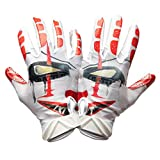 Battle Sports Science Adult Clown Football Gloves Red/White/Black S