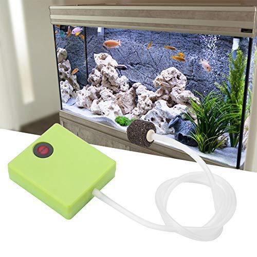 HEEPDD Sauerstoff pumpe, tragbarer Fisch Luft pumpenbelüfter Sauerstoff mit Luftstein Trockenbatterie betrieben für Aquarium Zubehör