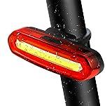 TedGem Super Luminoso Rosso LED Luci bicicletta, Luci per Bici, luce Fanale posteriore per Bici, USB Ricaricabile, 6 modalità di luce, resistente all