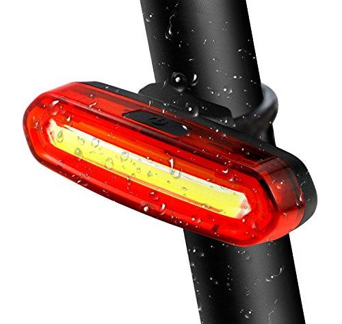 TedGem Luz Trasera para Bicicleta Recargable USB - LED Faro Trasero Bici - Luces Rojas Seguridad Ciclismo, Las luces traseras LED bicicletas, motos, luz (6 Modo de iluminación)