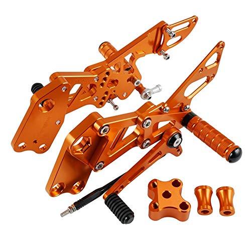 For RC125 RC200 RC390 RC 125 200 390 2014-2020 Ajuste de Ajuste Papos de Motocicletas de Motocicletas Aleación Retroextape Footpeg Footpeg (Color : Orange)