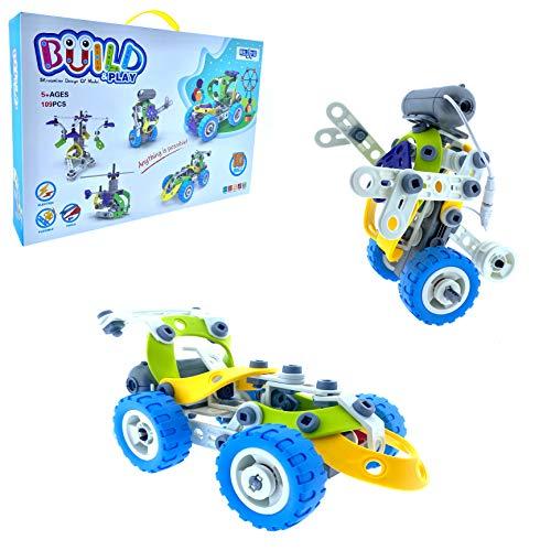 RB&G Technik BAU und Konstruktionsspielzeug 109 Teile / Bausatz Kreatives Baukasten Lernspielzeug Konstruktionsspielzeug