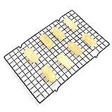 DFWYG Griglia di Raffreddamento Strumenti di Cottura Rack di Raffreddamento Antiaderente in Acciaio al Carbonio per Cottura al Forno, Biscotti Freschi, Torte, Pane (41 x 25,5 cm)