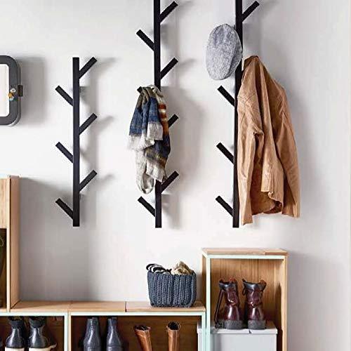 PremiumRacks Coat Rack & Hat Rack – Modern Design – Wall Mounted – Stylish – (Black)