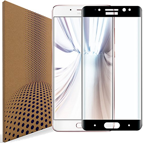 VLP Compatible con Huawei Mate 9 Pro Vidrio Protector de Pantalla, Borde 3D Curvo Anti Huella Digital Cristal Templado Película Protectora para Huawei Mate 9 Pro (Black)