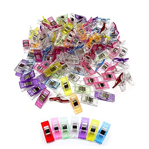 Miukada 170 pcs Multipurpose Sewing Clips for Quilting Crafting. Packaged with Bundle Pocket, Assorted Colors