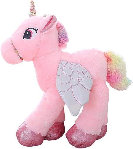 CGDZ 1 stück 45 60 90 cm Kawaii Einhorn Plüschtiere Riesen Kuscheltier Pferd Spielzeug für Kinder Weißhe Puppe Wohnkultur Liebhaber Geburtstagsgeschenk Rosa 90 cm