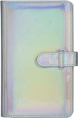 Mini álbum de fotos Universal Mini portátil de 96 bolsillos Memoria de álbum de fotos de PU para fotos para Polaroid de 3 pulgadas