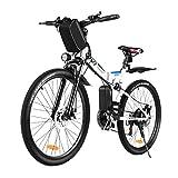 Vivi Bicicleta Eléctrica Plegable,250W Bicicleta De Montaña Eléctrica para Adultos,26 Pulgadas E-Bike Bicicleta Electrica Montaña, Shimano de 21 Velocidades Batería Extraíble de 36 V 8Ah