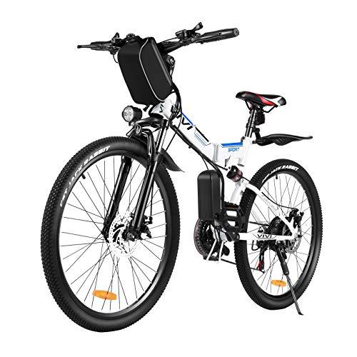 VIVI 350W Elektrofahrrad Herren,26 Zoll Faltbares E-Bike Mountainbike, Elektrofahrrad Klappbar Für Herren und Damen, Professionelle Shimano 21-Gang 36V 8Ah Lithium-Ionen Batterie