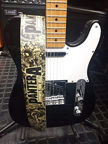 Pantera Correa para guitarra, correa para bajo, tamaño ajustable, cinturón reciclado de cuero ecológico, unisex Cowboys de Hell