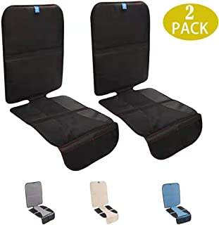 Funbliss Car Seat Protector for Baby Child Car Seats,L Size- Auto Seat Cover Mat for Under Carseat with Thickest Padding to Protect Leather & Fabric Upholstery - Waterproof and Dirt Resistant (2 Pack)