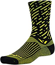 product image for Swiftwick Vision Seven Cadence Socks: Black/Yellow SM/MD