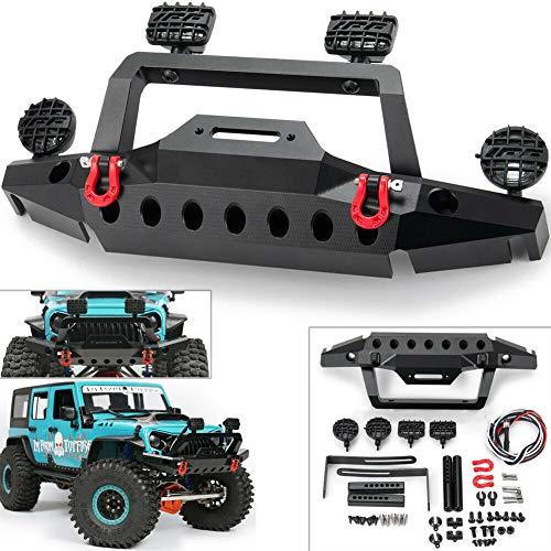 Metal Front Bumper w/ 2 Led Light for 1/10 RC Crawler TRX-4 Sport TF2