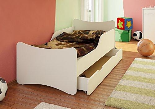 Best For Kids Kinderbett mit Schaummatratze TÜV Zertifiziert 80x160 - MIT SCHUBLADE