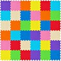 WEISBRANDT Kid's Puzzle Play Exercise Mat with EVA Foam, 36 Interlocking Tiles in 9 Colors with 72 Border Pieces for Children, Infant, Toddler, Double-Sided Non-Slip Grip Surface