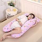Almohada de embarazo Para aliviar el estrés,El cuerpo completo del Almohada maternidad Aliviar el dolor maternal Enfermería En forma de u-B 140x80cm(55x31inch)