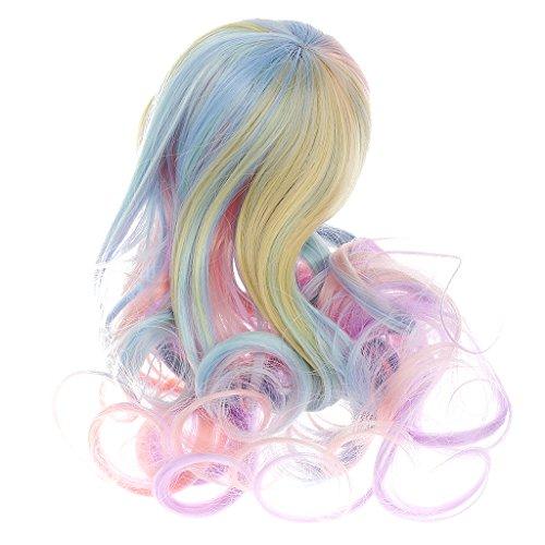 Puppen Perücke Süßen Gelocktes Haar Puppenperuecke Haarteil Für 1/6 Puppen - Farbe 3