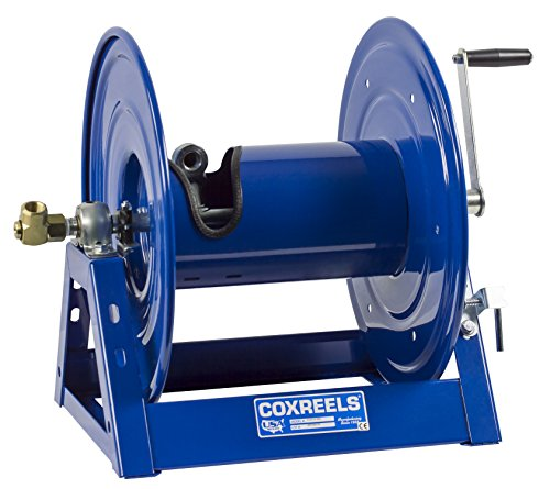 """Coxreels 1125-5-175 Steel Hand Crank Hose Reel - 3,000 PSI - Holds ¾"""" x 175' Length Hose - Perfect for Air Compressor, Garden, Pressure Washer, Electric Hoses (Hose Not Included) Made in USA"""
