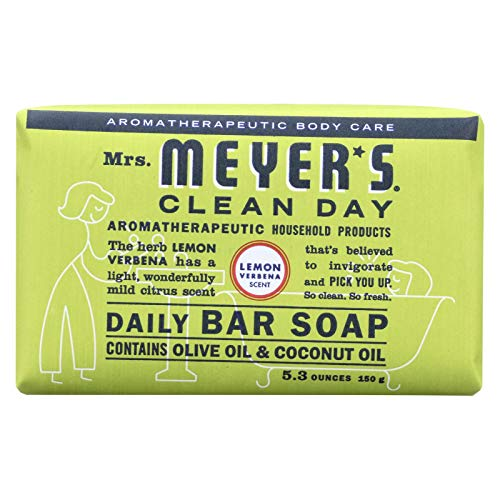 Mrs. Meyer's Clean Day Bar Soap 5.3 Oz. Lemon Verbena Scent, by Mrs. Meyers Clean Day