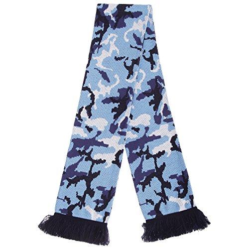 Floso - Echarpe à motif camouflage - Adulte unisexe (Taille unique) (Bleu)