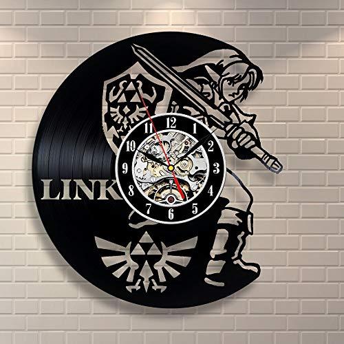 wtnhz LED-Jugendstil CD Schallplatte Wanduhr Handmade Watch Black Home Design