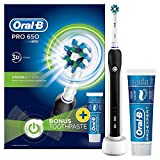 <span class='highlight'>Oral</span>-B Pro 650 Cross Action <span class='highlight'>Electric</span> Rechargeable <span class='highlight'>Toothbrush</span> Powered by <span class='highlight'>Braun</span>, 1 Black Handle, 1 <span class='highlight'>Toothbrush</span> Head, 1 <span class='highlight'>Oral</span>-B Pro-Expert Professional Protection Toothpaste 75 ml, 2 Pin UK Plug